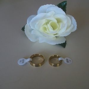 Jewelry - Her King & His Queen Rings Set Gold Titanium Steel
